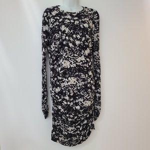 Moda International Black & White Ruched Dress XL